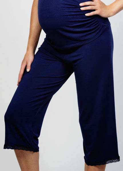 Cake Lingerie - Blue Berry Torte 3/4 Maternity Pant :  nursing wear maternity clothing maternity maternity wear