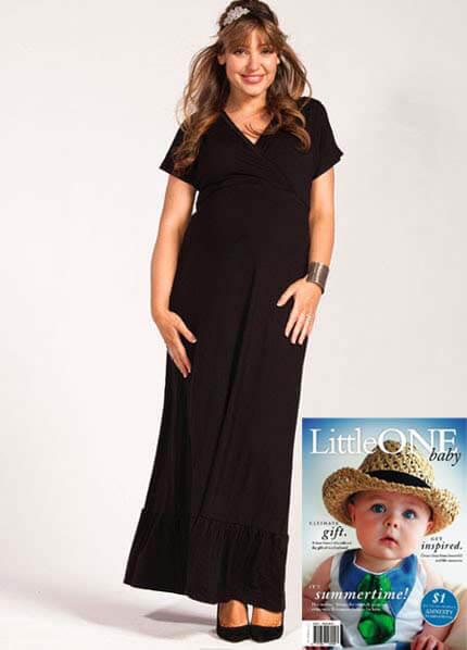 Queen Bee Eliza Black Maternity/Nursing Maxi Dress by Milky Way Nursingwear