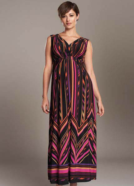 Queen Bee Pleated Maternity Maxi Dress by Maternal America