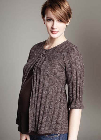 Queen Bee 3/4 Sleeve Nursing / Maternity Sweater by Maternal America