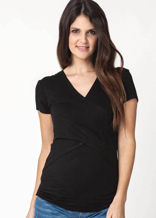 Queen Bee Embrace Short Sleeve Nursing / Maternity Top by Ripe Maternity