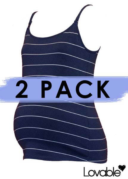 Queen Bee Essential 2 pack Nursing / Maternity Cami by Lovable