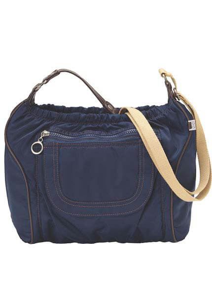 Queen Bee OiOi Baby Bags - Midnight Navy Nylon Twill Across Body Diaper Bag