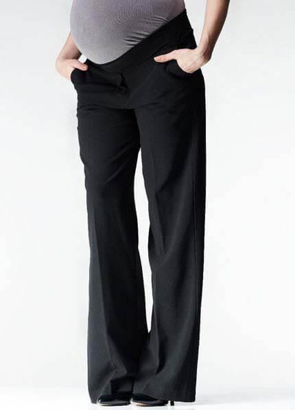 Wide Leg Black Maternity Pants By Soon Maternity