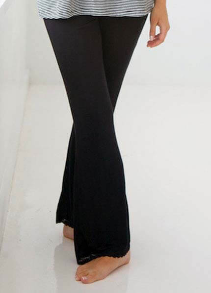 Queen Bee Belly Boudoir Black Maternity Lounge Pant by Belabumbum