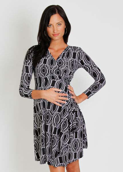 Queen Bee Kaylee Maternity Wrap Dress by Everly Grey