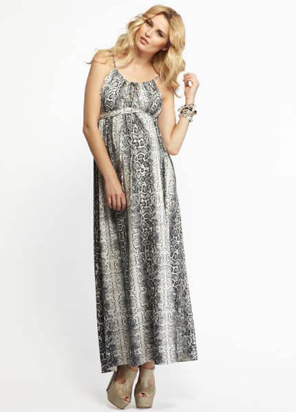 Queen Bee Olivia Snakeskin Maternity Maxi Dress by More of Me