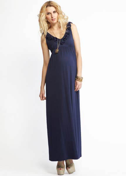 Queen Bee Avery Navy Maternity Maxi Dress by More of Me