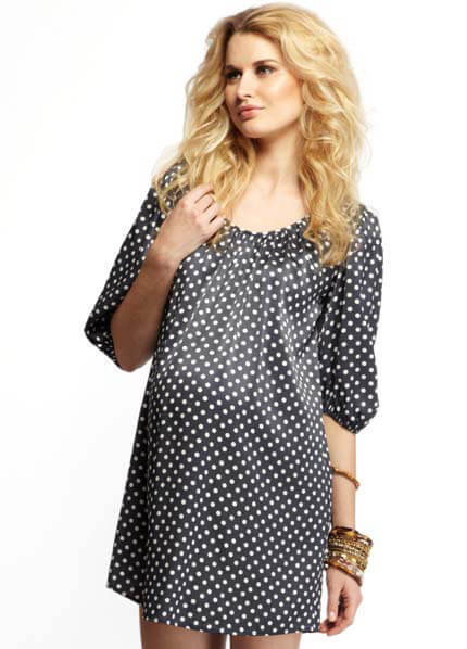 Queen Bee Favourite Navy Polkadot Shirtdress by More of Me