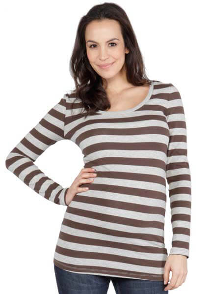 Queen Bee Cole Striped Maternity Tee by NOM