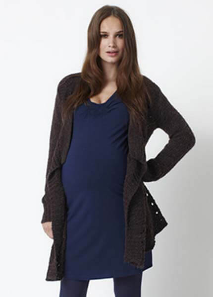 Queen Bee Knit Maternity Cardigan by Queen mum