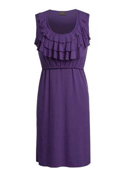 Queen Bee Tiered Ruffle Nursing Dress by Milk Nursingwear
