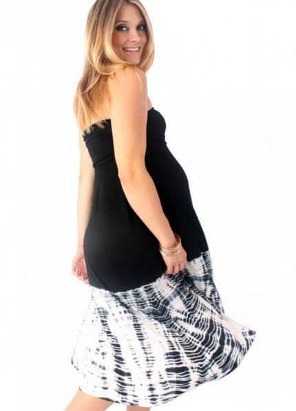 Queen Bee Sharnee Maternity Skirt/Dress in Black by Nuka