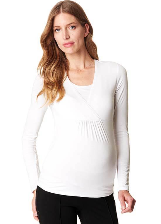 cd0a455cda941 Long Sleeve Maternity Nursing Top by Esprit