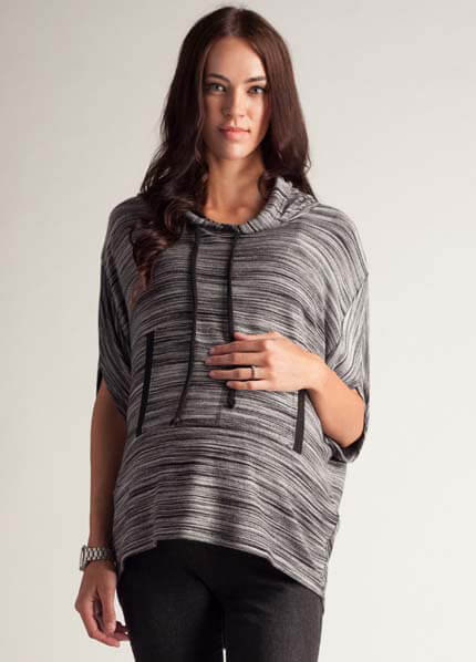 Queen Bee Drop Shoulder Maternity Pullover Hoodie by LA Made