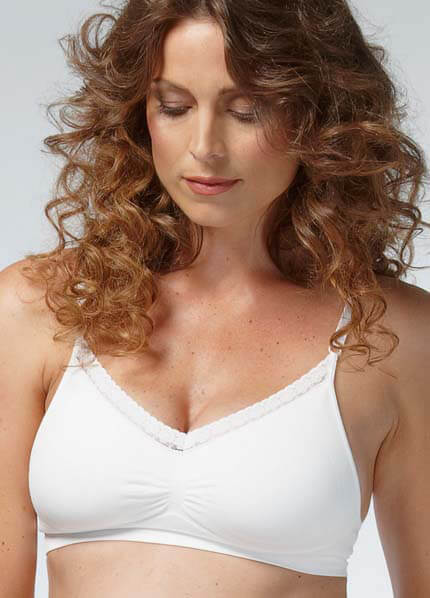 Queen Bee Seamless Support Maternity Bra in Black or White by Noppies