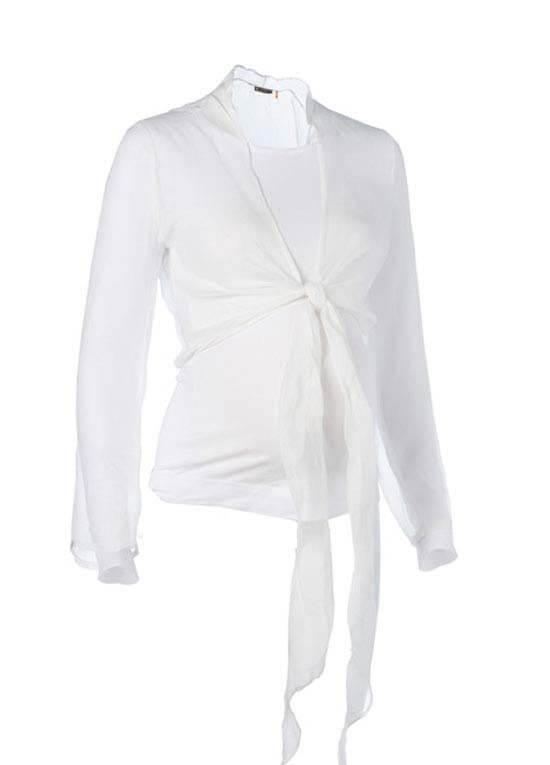 Sheer Wrap Silk Maternity Cardigan by Noppies