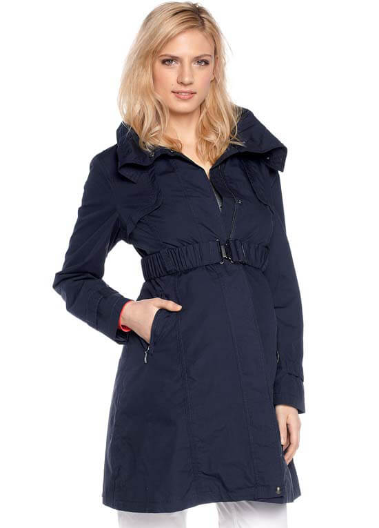 Blue By Trench Esprit Navy Maternity Parka Coat q7F8PAw