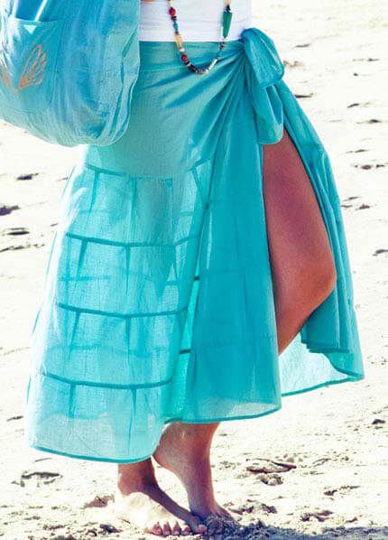Queen Bee Long Island Sarong in Teal by Deshabille