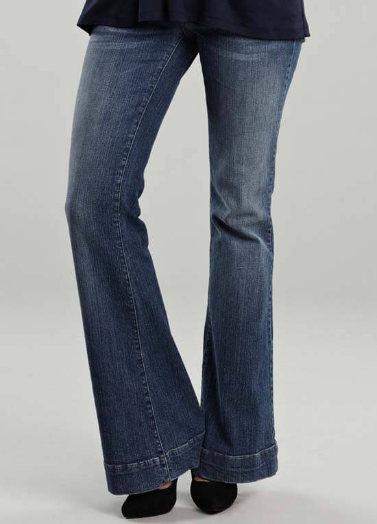 Classic Wash Bootcut Maternity Jeans by Maternal America