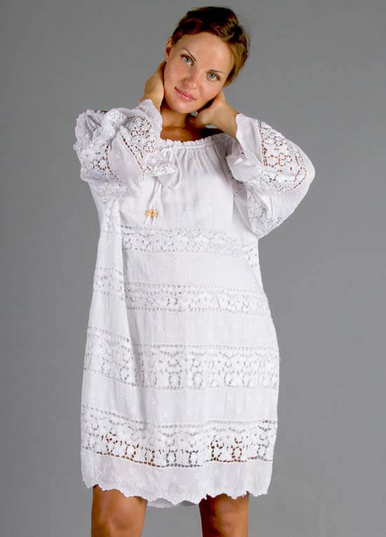 7eac843e3e White Broderie Anglaise Dreamcatcher Maternity Dress by Fillyboo
