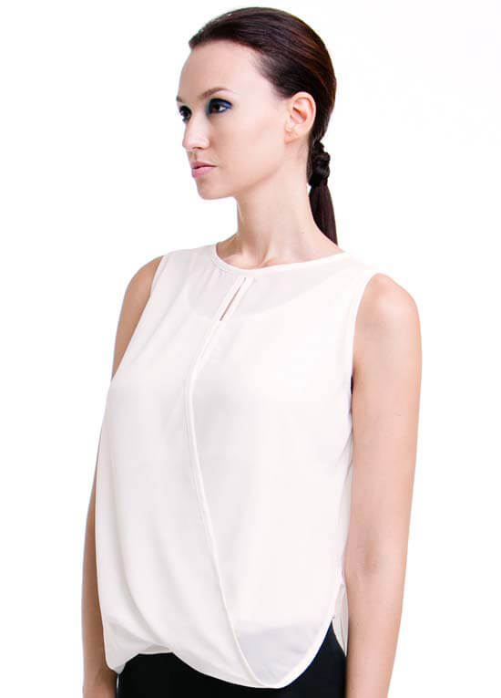Nicole Nursing Top In Cream By Dote Nursingwear