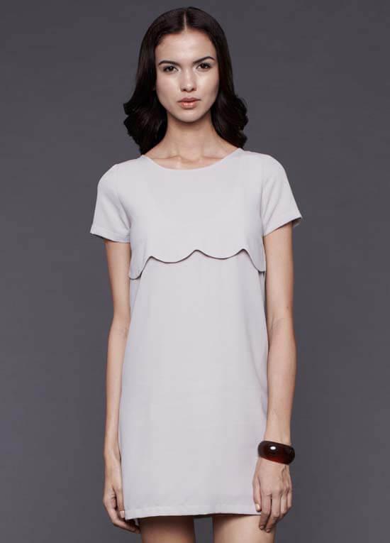 Alexa Nursing Dress in Grey by Dote Nursingwear