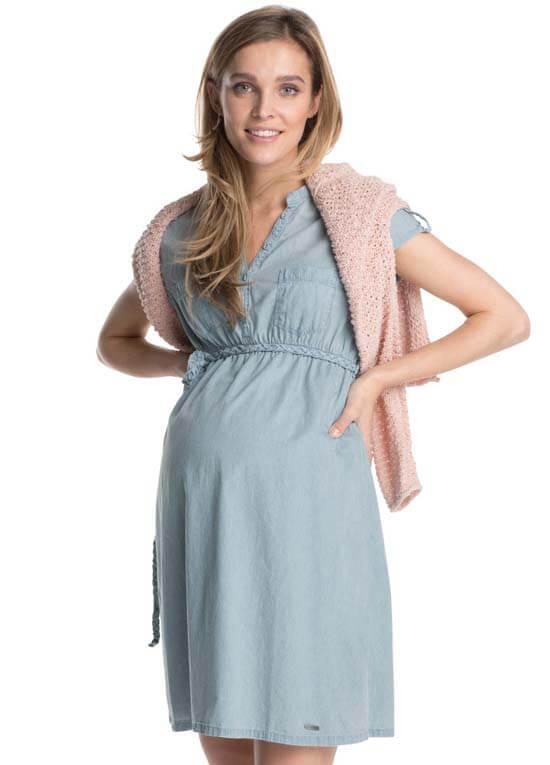 Denim pregnancy dress