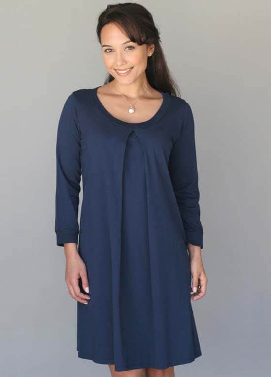 Arianna Blue Maternity Nursing Hospital Gown by Floressa