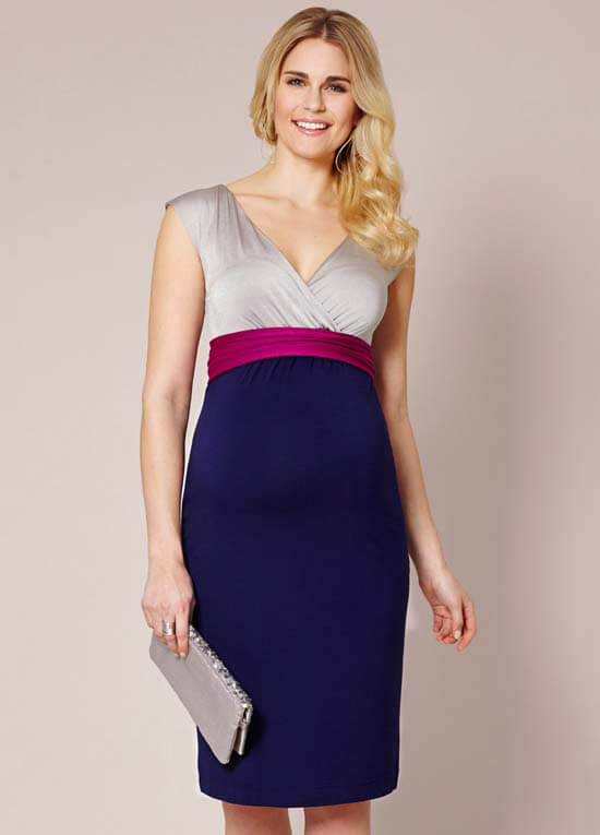 140855093115 Jewel Block Maternity Dress in Eclipse by Tiffany Rose