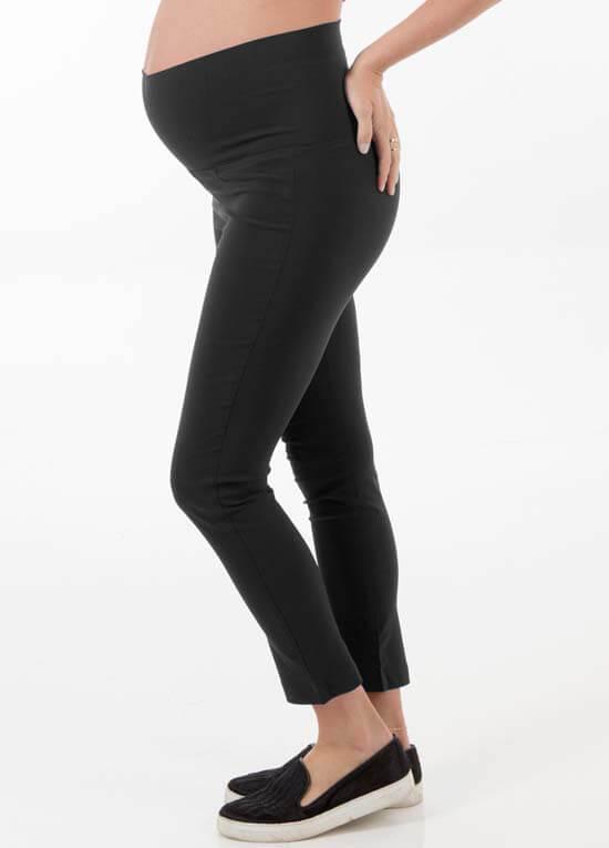 2d2339728c8415 Aidan Black Maternity Capri Pants by Floressa