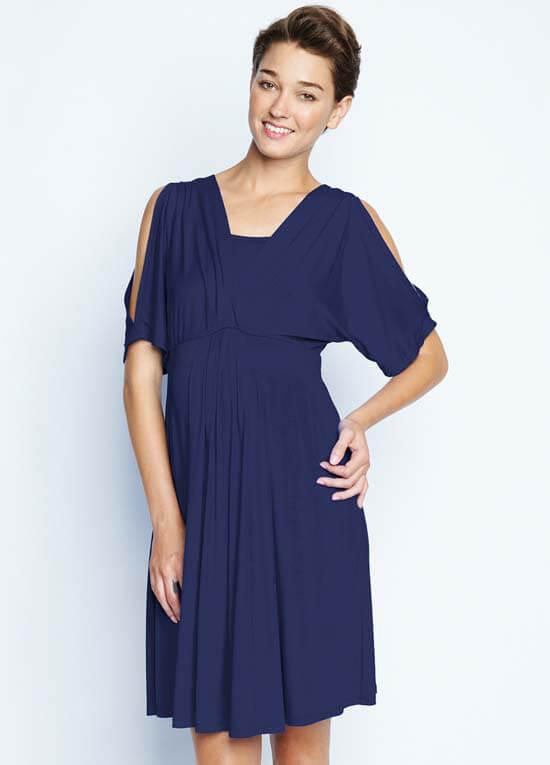 05ba86284e4 Navy Split Sleeve Maternity Nursing Dress by Maternal America