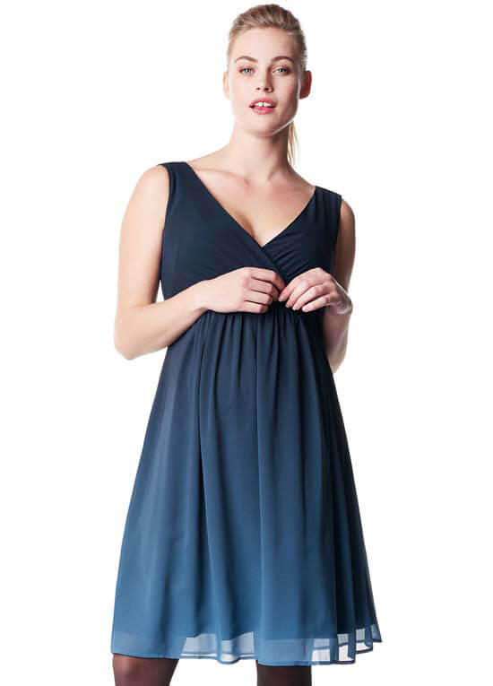 c6b139adbaad4 Bliss Maternity Cocktail Party Dress in Dark Blue by Noppies