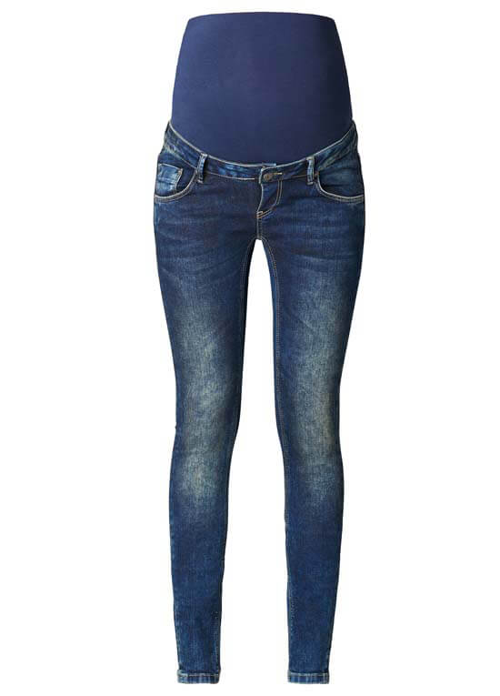 Blue Skinny Maternity Jeans By Supermom