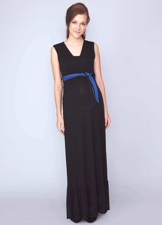 a1e49f364938 Billie Nursing Maxi Dress in Black by Dote Nursingwear