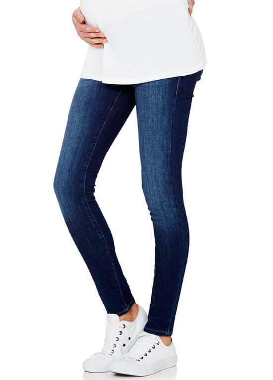 Reina Dark Indigo Feather Super Skinny Maternity Jeans by Mavi