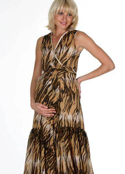 LIL Designs - Tigress Ruffle Wrap Maternity Dress * ON SALE * :  designer maternity dresses maternity clothing maternity maternity wear