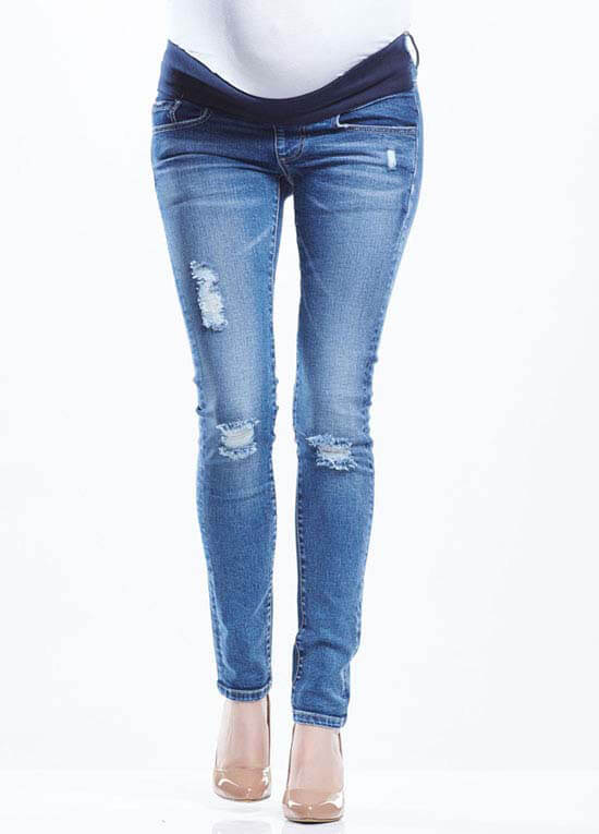 Blaze Distressed Maternity Skinny Jeans by Soon Maternity