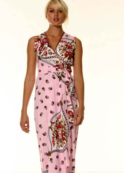 LIL Designs - Messina Wrap Maternity Dress in Ice Pink