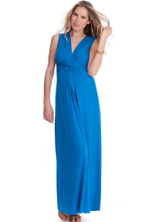Seaside Blue Maternity Maxi Dress by Seraphine