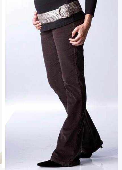 SER0003 - Seraphine Brown Bootleg Cord Trousers * ON SALE * :  maternity fashion queen bee maternity maternity maternity clothing