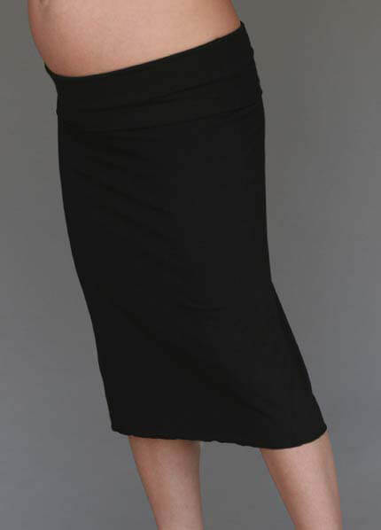 Queen Bee Essential Black Maternity Skirt by 1 In The Oven