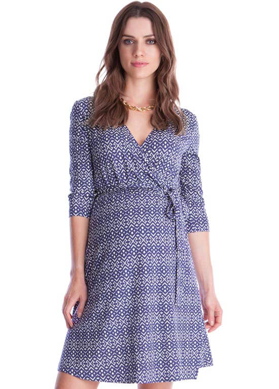 ca0abf414a4 Queen Bee Milana Maternity Wrap Dress in Purple Print by Seraphine