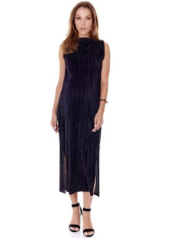 b06070f81670 Felicia Evening Shimmer Maternity Maxi Dress in Black by Imanimo