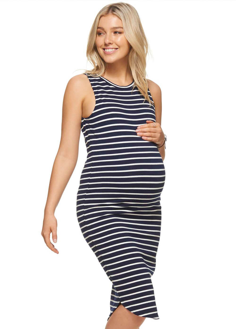 More than words maternity dress in navywhite stripes by bae ombrellifo Choice Image