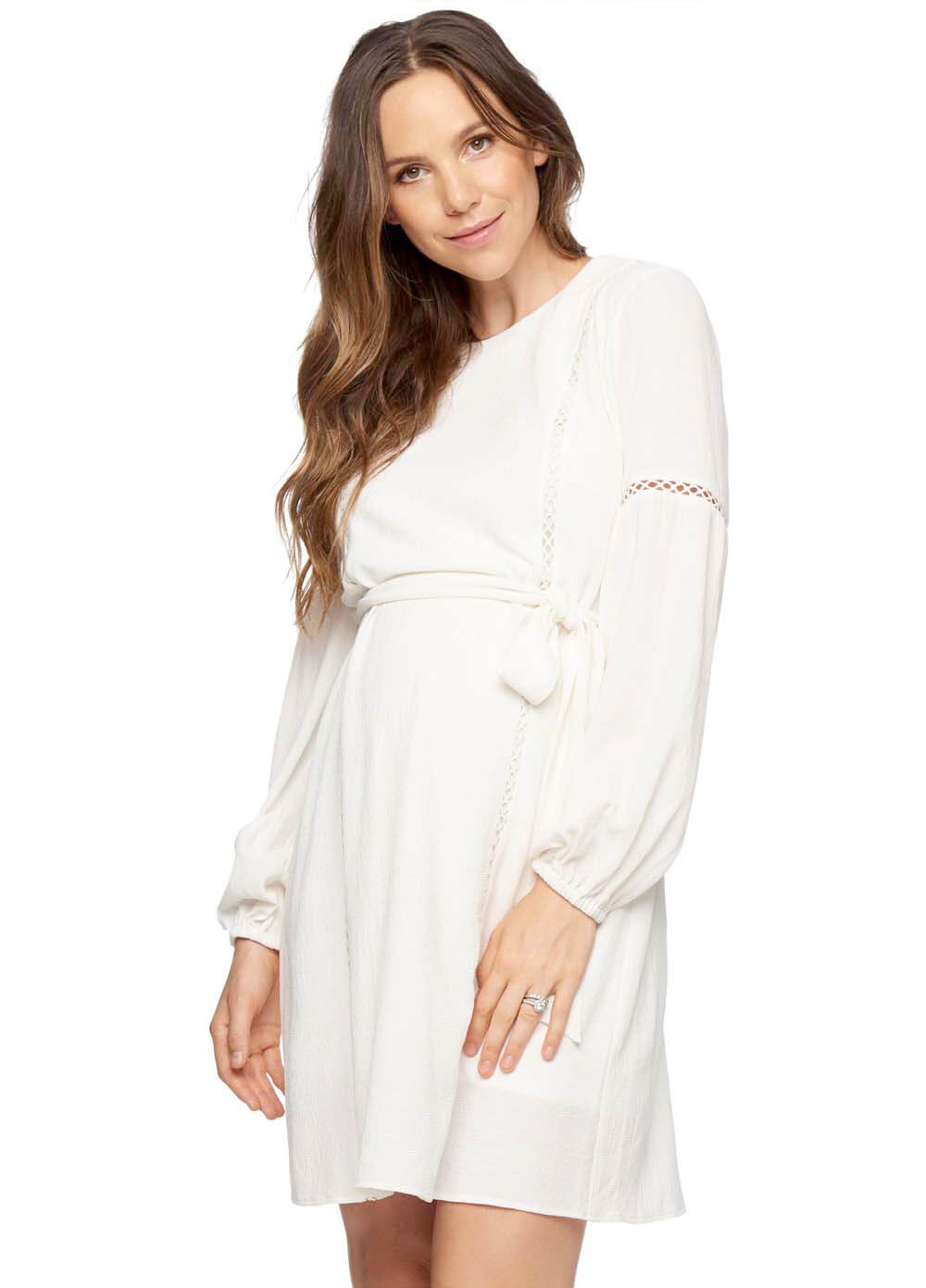 4d6c80aef1c You And Me Maternity Dress in Ivory by Bae The Label