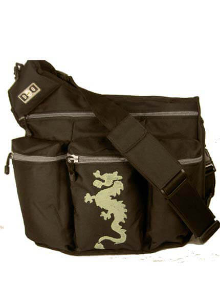 Diaper Dude - Black Diaper Bag w Dragon design :  dads baby bag nappy bag baby bag