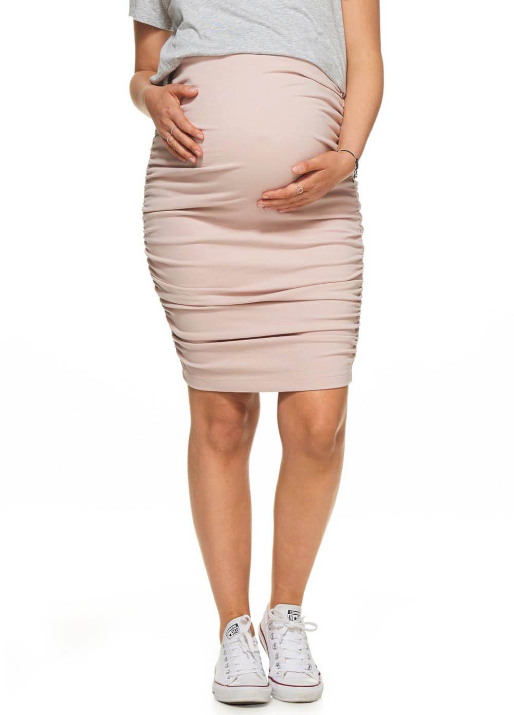 62a2fa2ef2485 Count Your Blessings Maternity Skirt in Pink by Bae The Label
