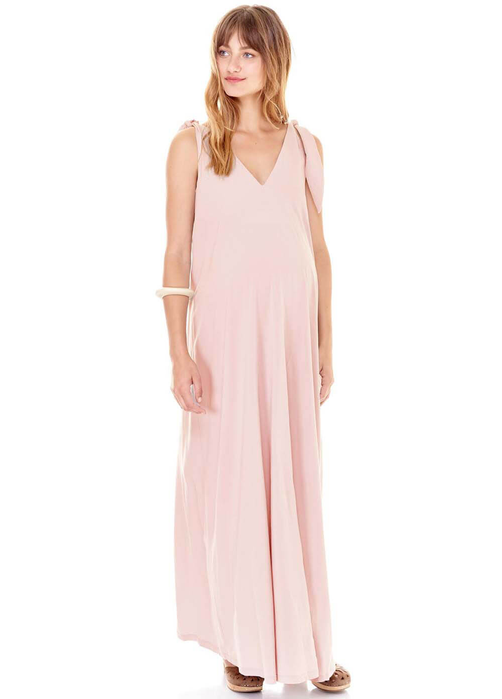 34cc3724331d Jordan Maternity Maxi Dress in Blush by Imanimo