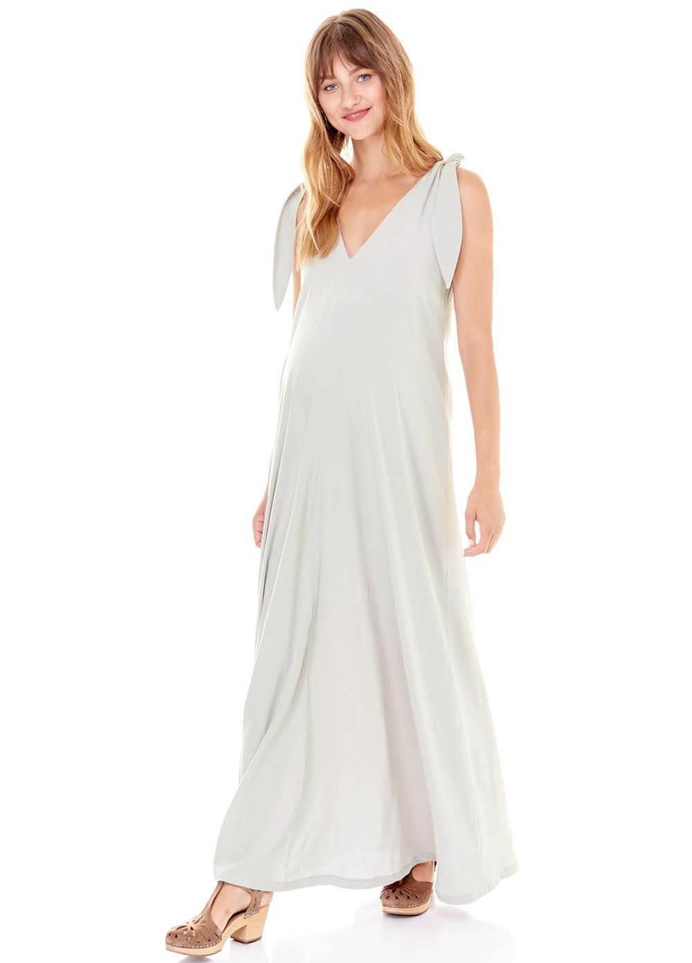 124204d8441e Jordan Maternity Maxi Dress in Grey by Imanimo